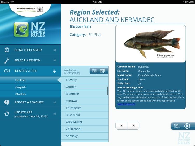 NZ Fishing Rules HD screenshot-3
