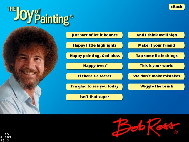Bob Ross On The App Store