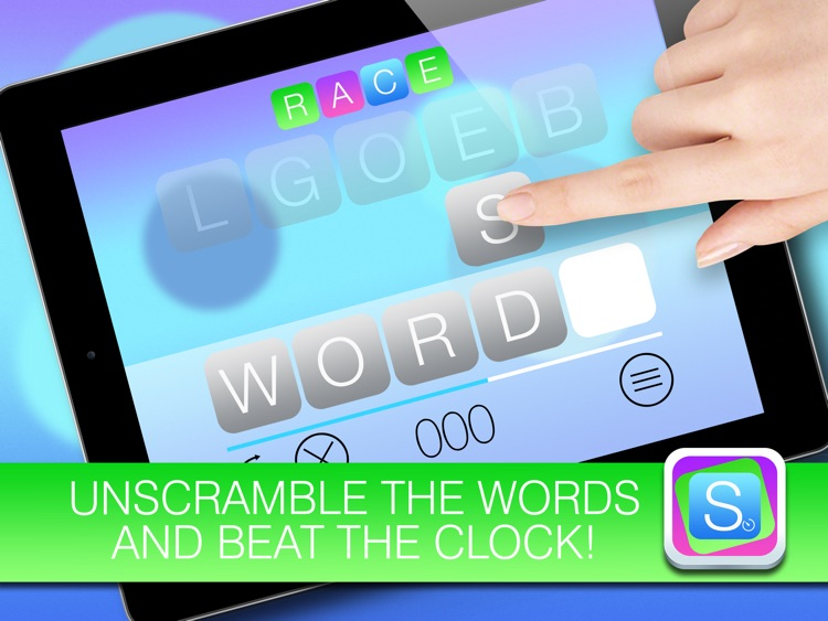 Scramble HD FREE - Unscramble the words and beat the clock