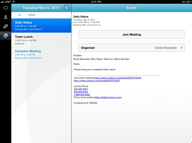 Microsoft Lync 2010 for iPad on the App Store