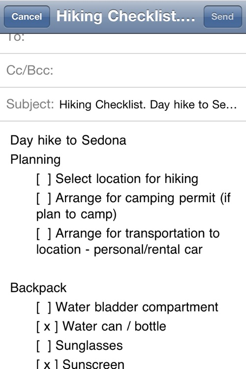 Hiking Checklist screenshot-4