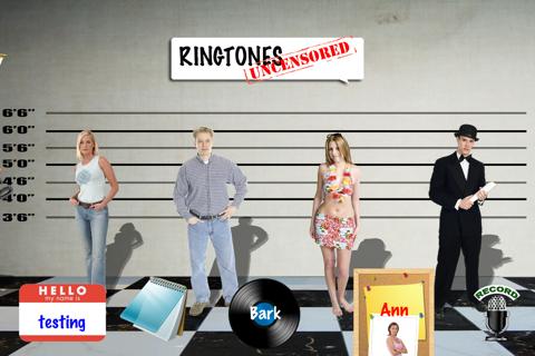 Ringtones Uncensored Pro ringtone & text tone creator for Talking Caller ID screenshot 1