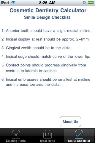 Cosmetic Dentistry Calculator screenshot-4