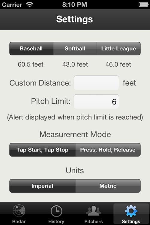 Baseball Pitch Radar Gun screenshot-3