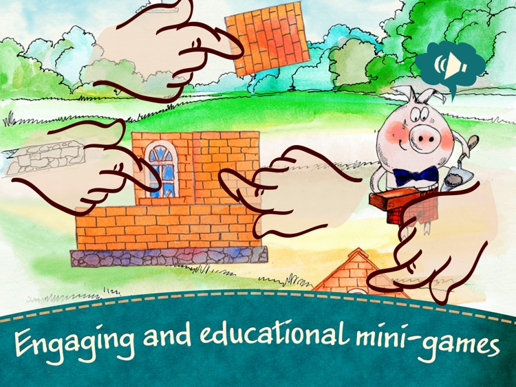 The Three Little Pigs - an interactive fairy tale for kids