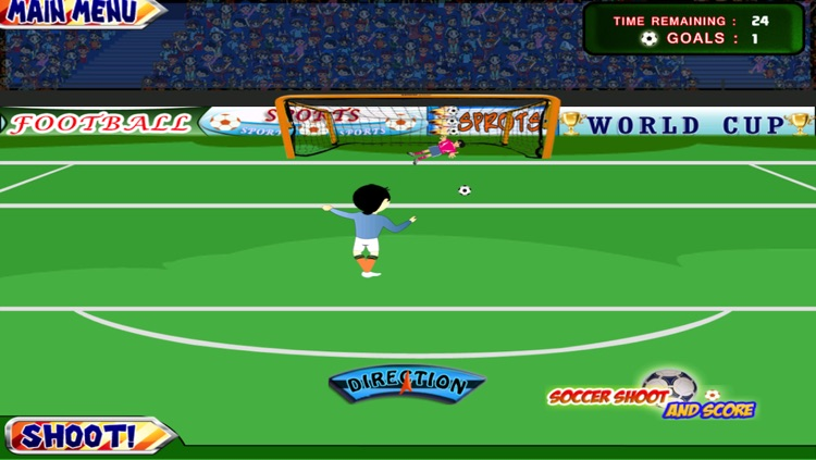 A Soccer Shoot and Score Game for Free 2014 Sports screenshot-3
