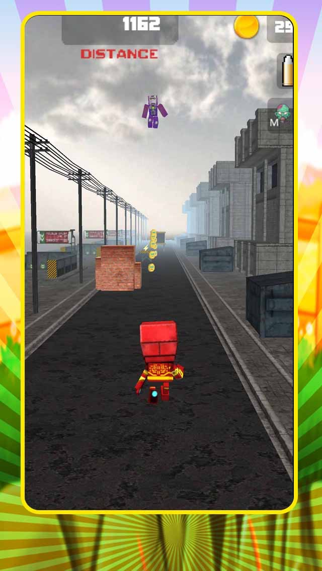 3D Robot Rampage: Valley of the Block Iron Monument