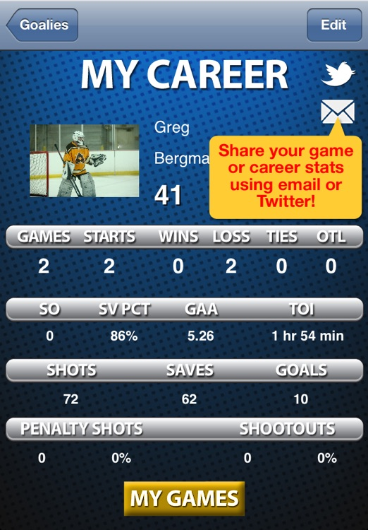 Goalie Stats screenshot-2