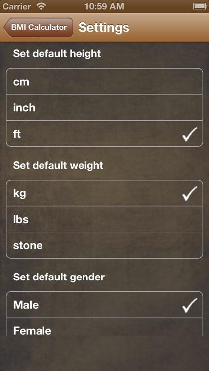 BMI Calc Free screenshot-4