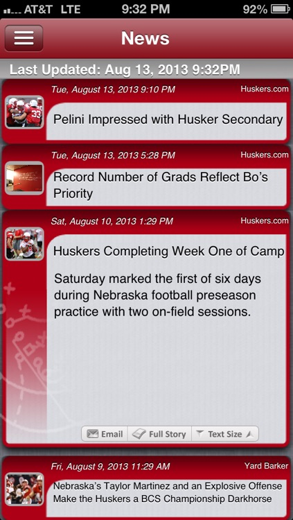 Nebraska Football Live screenshot-0