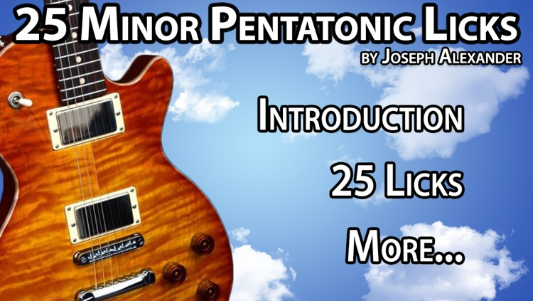 25 Minor Pentatonic Licks with Joseph Alexander screenshot-3