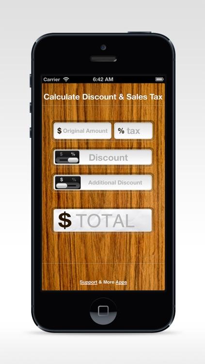 Calculate Discount & Sales Tax screenshot-3