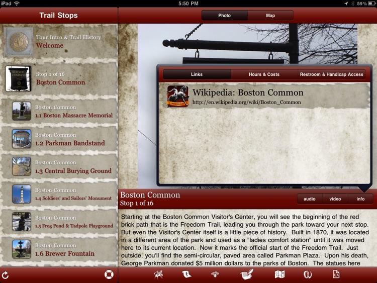 Tour Boston's Freedom Trail for iPad screenshot-3