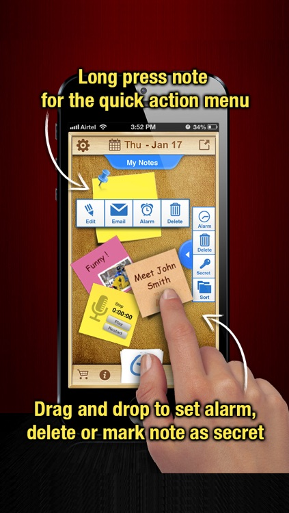 StickMe Notes - Beautiful Checklist Reminder - ToDo Task Lists & Personal Sticky Notepad Application With Alarm screenshot-3