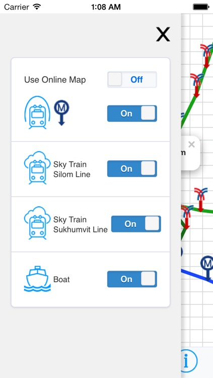 Bangkok Metro Map Transport - Sky train and Boat screenshot-3