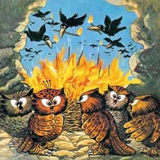 Panchatantra Moral Stories - Crows and Owls - Amar Chitra Katha Comics