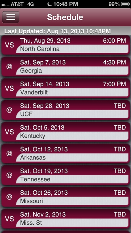 South Carolina Football Live screenshot-2