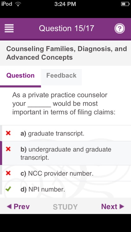 The Encyclopedia of Counseling Exam Prep App screenshot-4