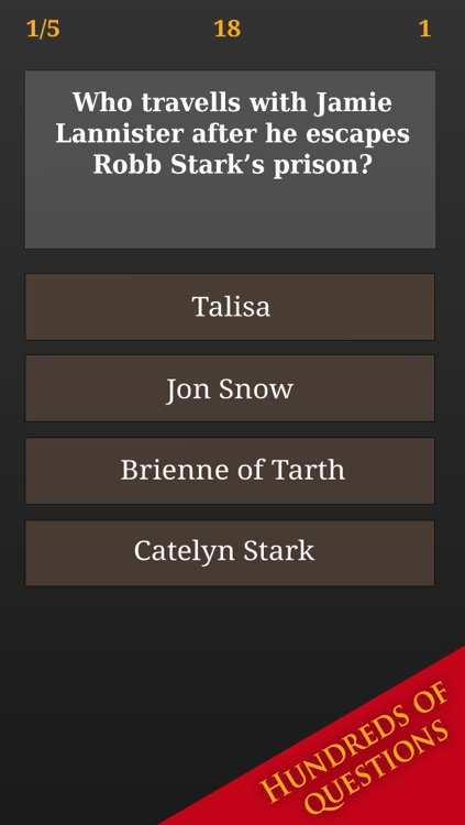 Trivia for Game of Thrones - Quiz Questions from Fantasy TV Show Movie