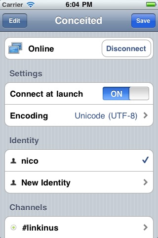 Linkinus for iPhone - IRC Client screenshot-3