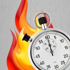 Timer on Fire icon