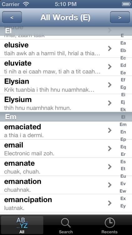English Chin Myanmar Dictionary