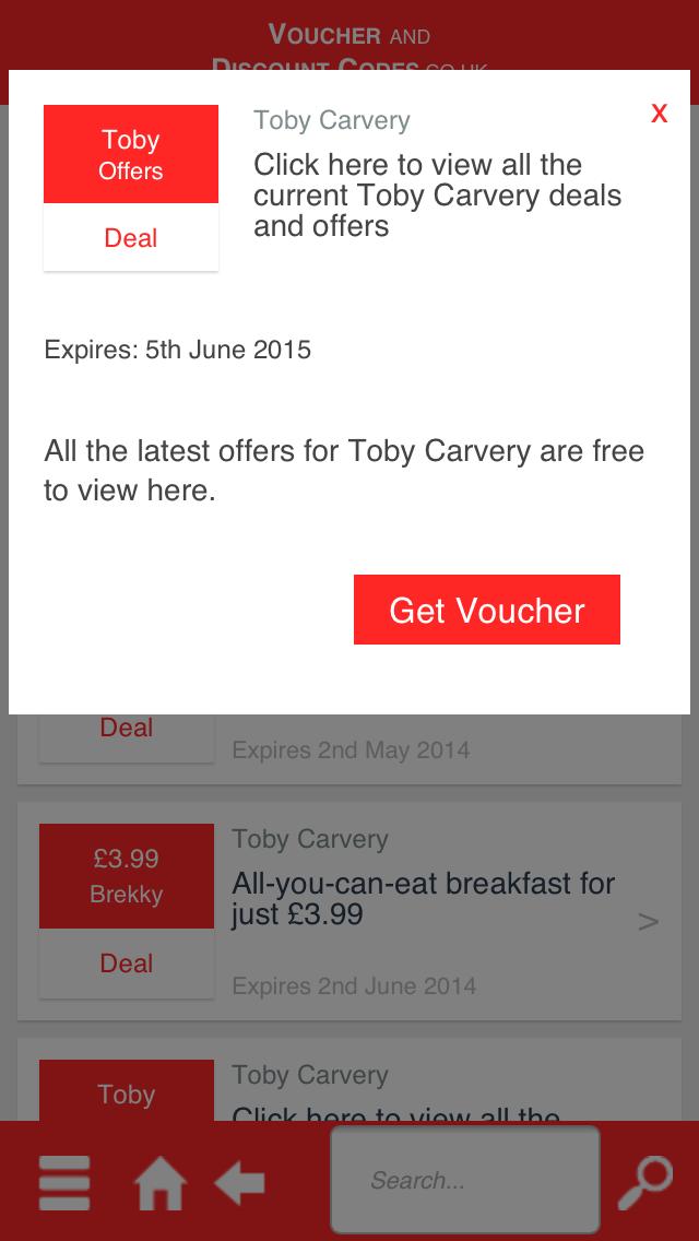 Voucher and Discount Codes screenshot three