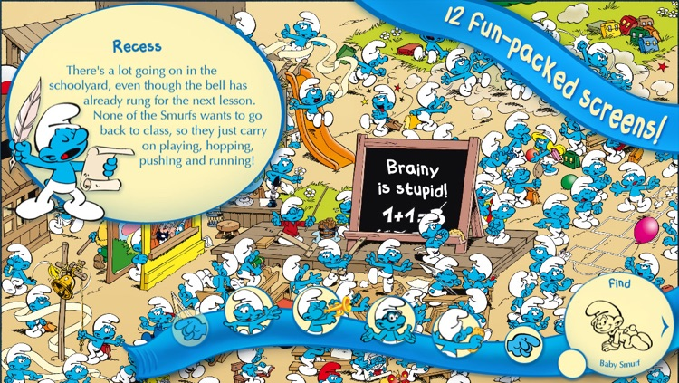 The Smurfs Hide & Seek with Baby