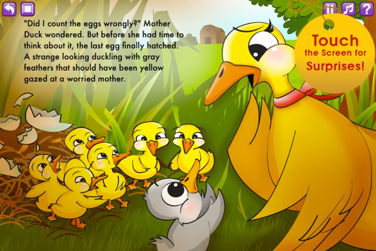 The Ugly Duckling Storybook HD screenshot-2
