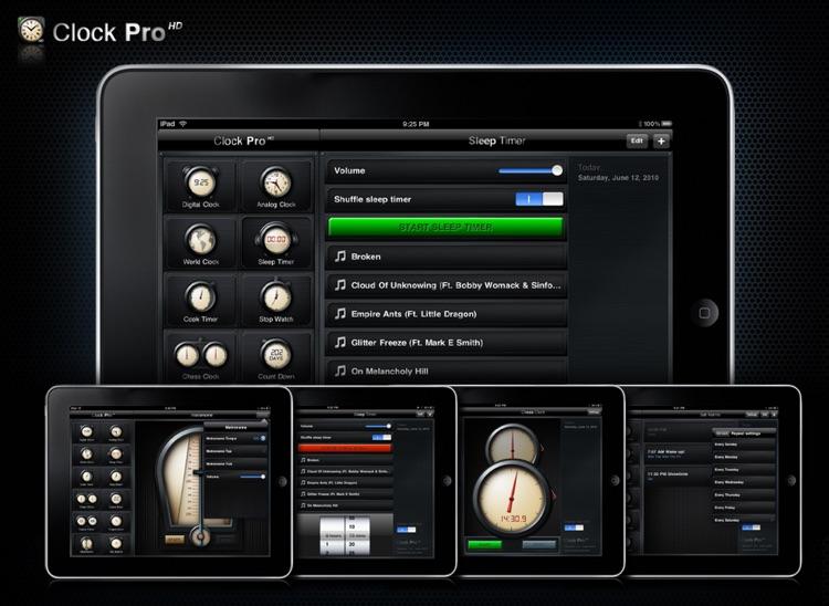 Clock Pro HD Free screenshot-4