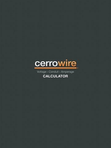 Cerrowire Electrical Calculator-ipad-0