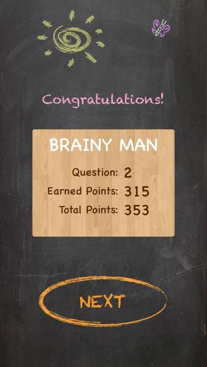 Brainy Man Hangman Crossword Game screenshot-4