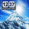 Snow Mountain Animated Clock FREE - iPhoneアプリ