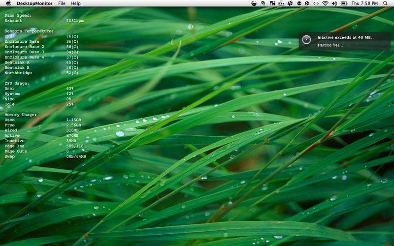 DesktopMonitor Screenshot