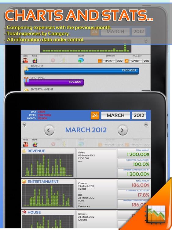 Expenses Under Control HD screenshot-3