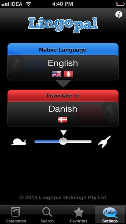Lingopal Danish LITE - talking phrasebook