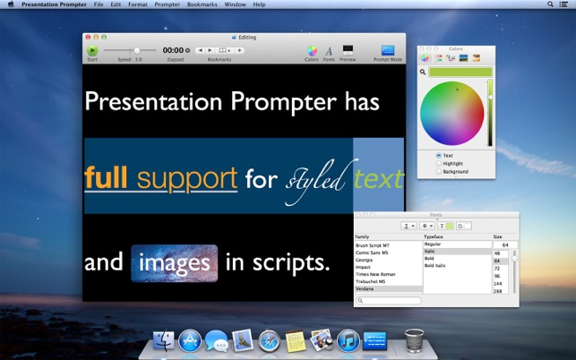 presentation prompter on the mac app store