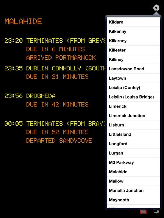 Irish Real Time Rail HD