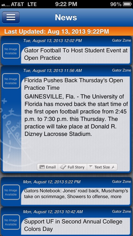 Florida Football Live screenshot-0