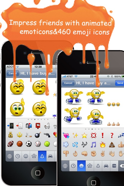 Animoticons+Emoji PRO for MMS & Facebook Text Messaging(FREE)