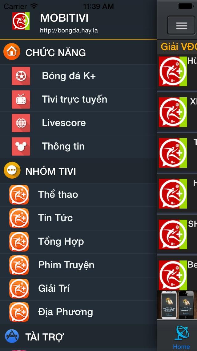 MobiTivi -xem tivi,radio,truyen hinh,bong da,k+,hd,online Screenshot