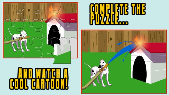 Fireman JigSaw Puzzles - Animated Puzzles for Kids with Fun Firetruck and  Firemen Cartoons in HD! on the App Store