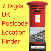7 Digits UK Postcode Locations and Street View Images