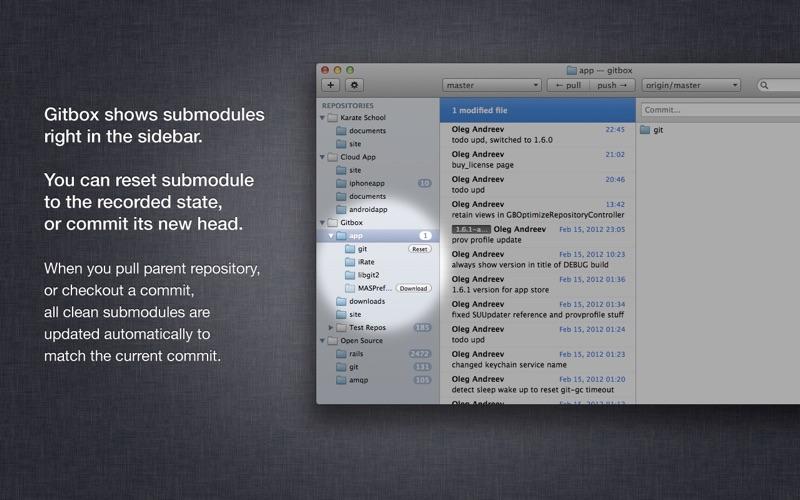 Gitbox review screenshots