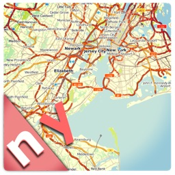 New York offline road map, guide & hotels (FREE edition)
