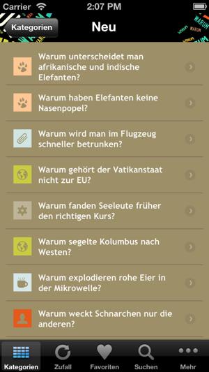 Warum? Screenshot