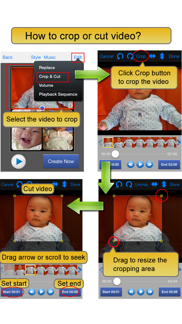 Screenshot #3 pour Video Album - Frame Video, Join Video, Crop Video, Rotate Video
