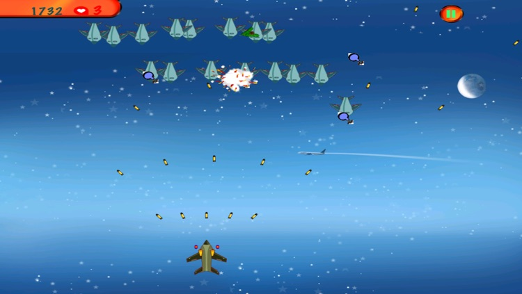 Airplane Shooting Fight Adventure - Night Sky Airplay Attack Free screenshot-4