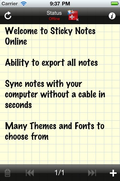 Sticky Notes Online