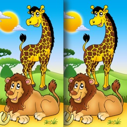 Africa & Adventure Spot the Difference for Kids and Toddlers